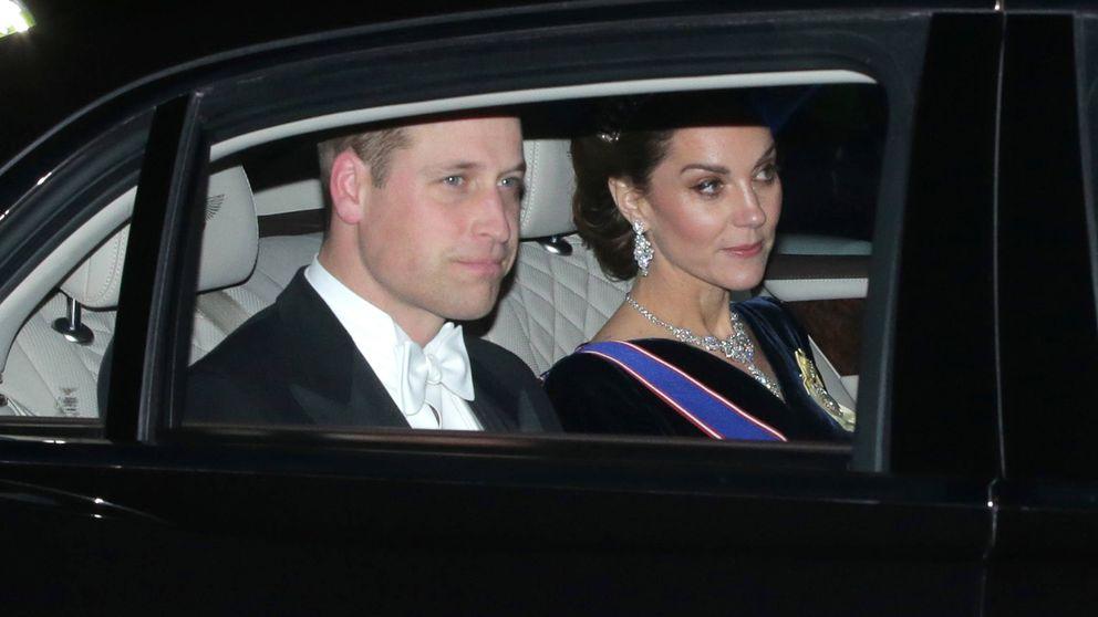 Kate Middleton, de cena con un majestuoso collar de Isabel II y la tiara de Lady Di