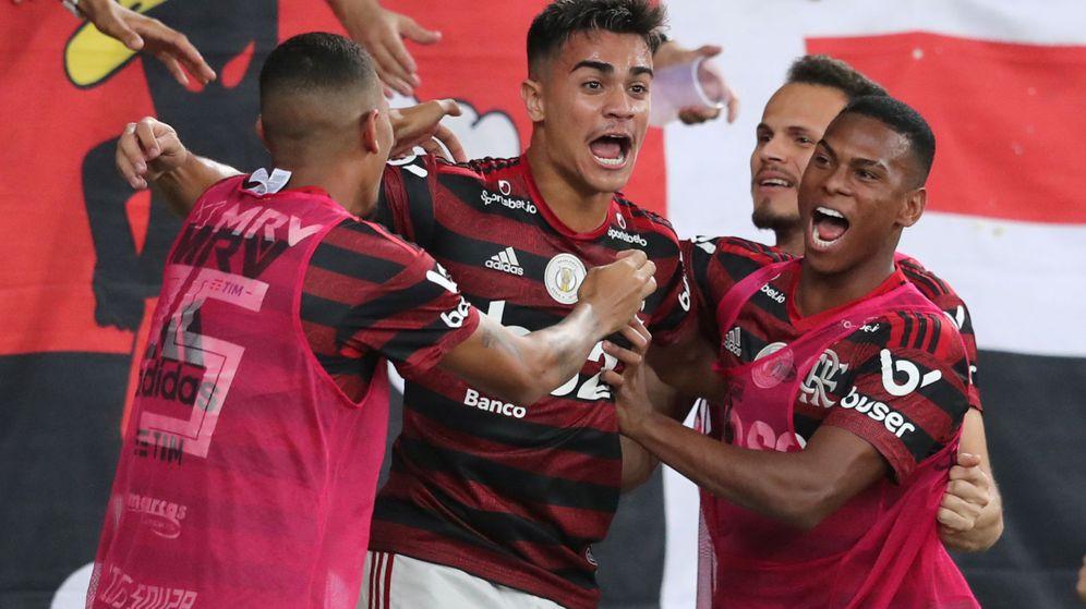 Foto: Reinier celebra un gol con el Flamengo. (EFE)