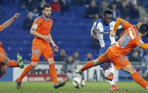 El Espanyol elimina al Valencia y el Málaga pasa a cuartos perdiendo