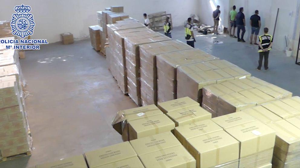Cinco detenidos por robar material sanitario por valor de 700.000€
