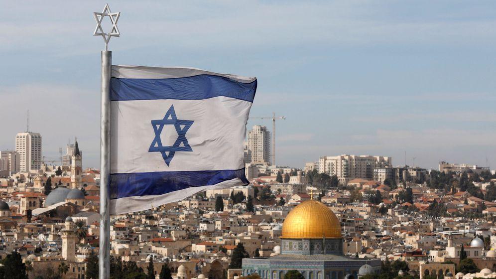 Foto: Bandera de Israel en la zona antigua de Jerusalén. (EFE)