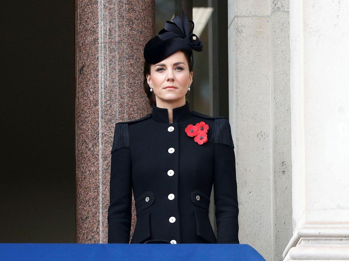 Foto: Kate Middleton, en los actos por el Día del Armisticio. (Reuters)