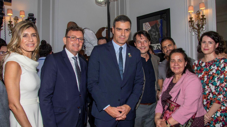 En la residencia del embajador de España ante las Naciones Unidas, Agustín Santos, en Nueva York. (EFE)