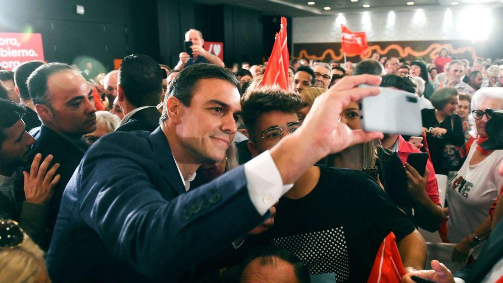 Foto: Pedro Sánchez, durante el acto. (EFE)