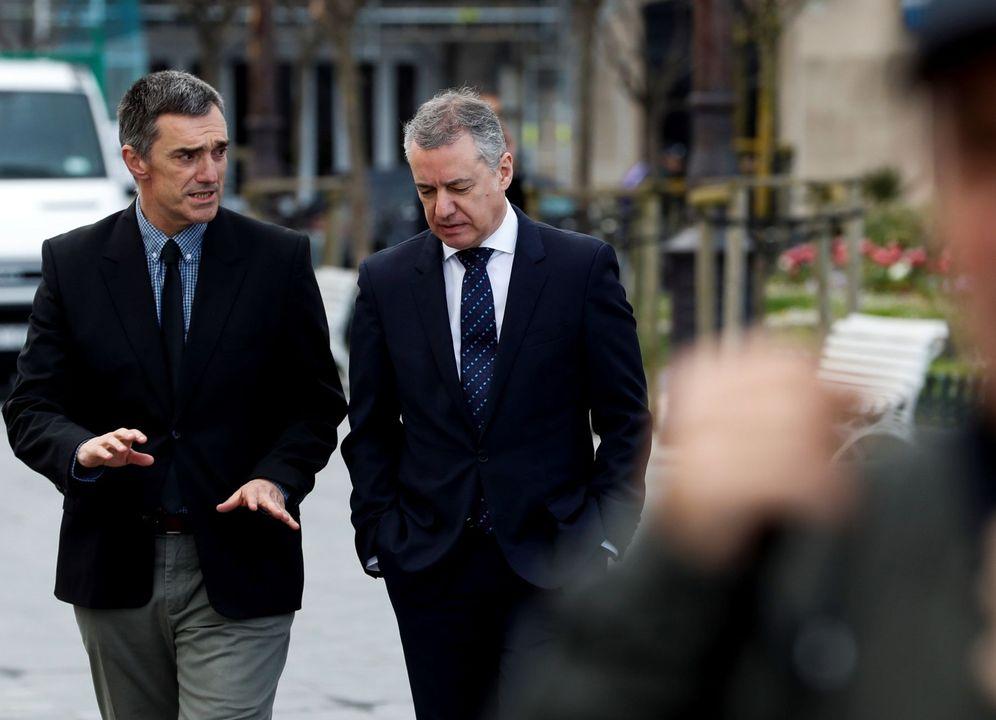 Foto: Jonan Fernández e Iñigo Urkullu en un acto oficial. (EFE)