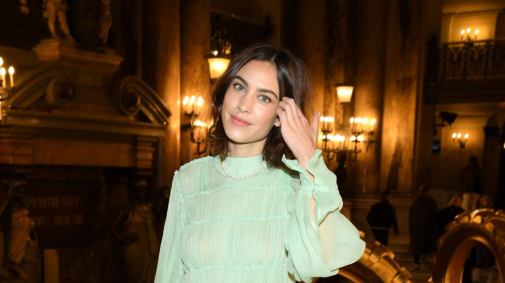 Foto: Alexa Chung en el desfile de Stella McCartney. (Getty Images)