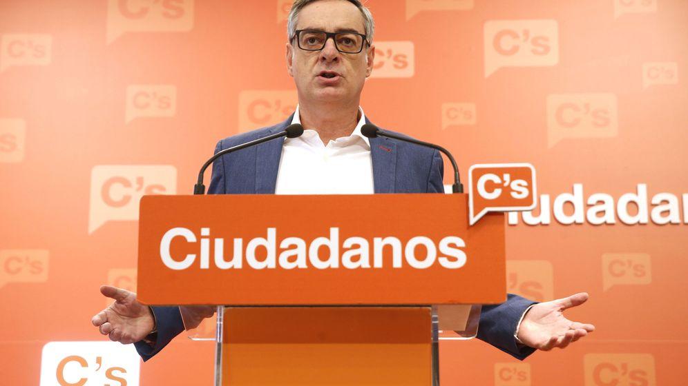 Foto: El vicesecretario de Ciudadanos, José Manuel Villegas, durante una rueda de prensa. (EFE)