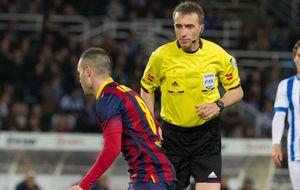 Los jugadores del Barça podrían haber insultado al árbitro en Anoeta