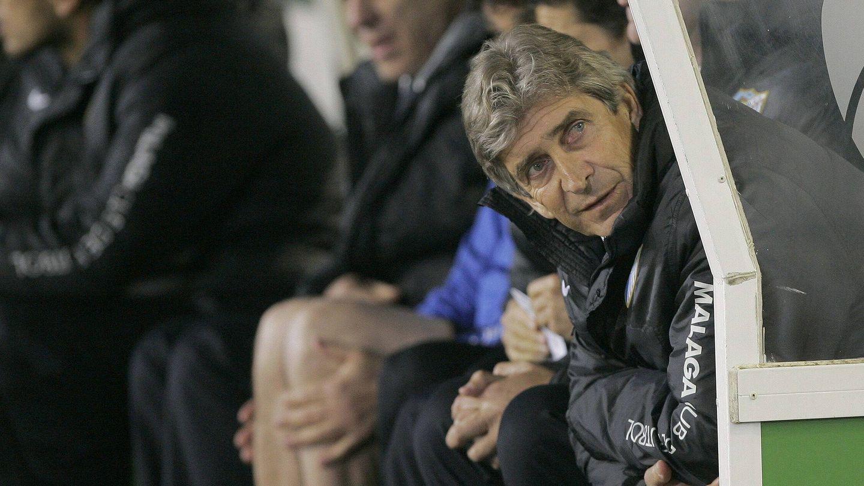 Manuel Pellegrini, en su etapa del entrenador del Málaga CF. (EFE)
