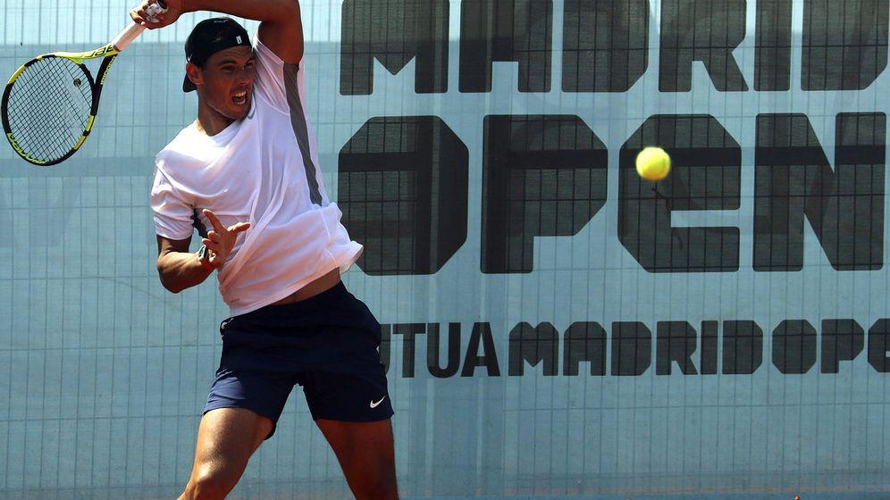 Foto: Nadal se entrena en Madrid. (EFE)