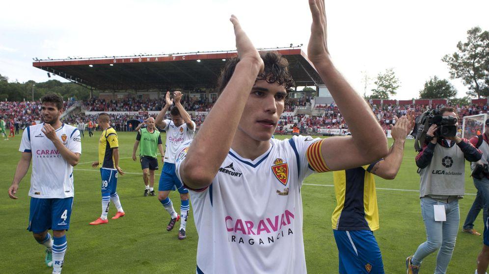Foto: Jesús Vallejo la temporada pasada con el Real Zaragoza (Efe).