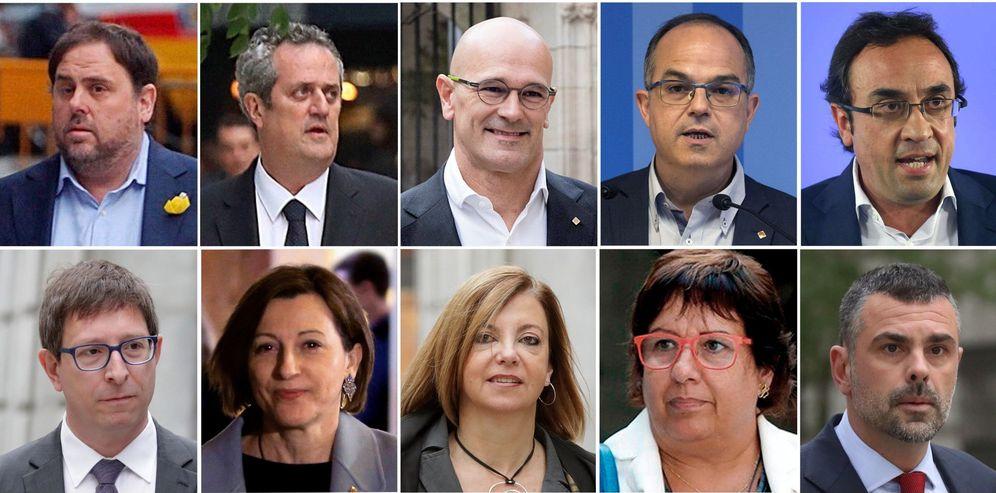 Foto: Los procesados como responsables del 'procés'. (EFE)