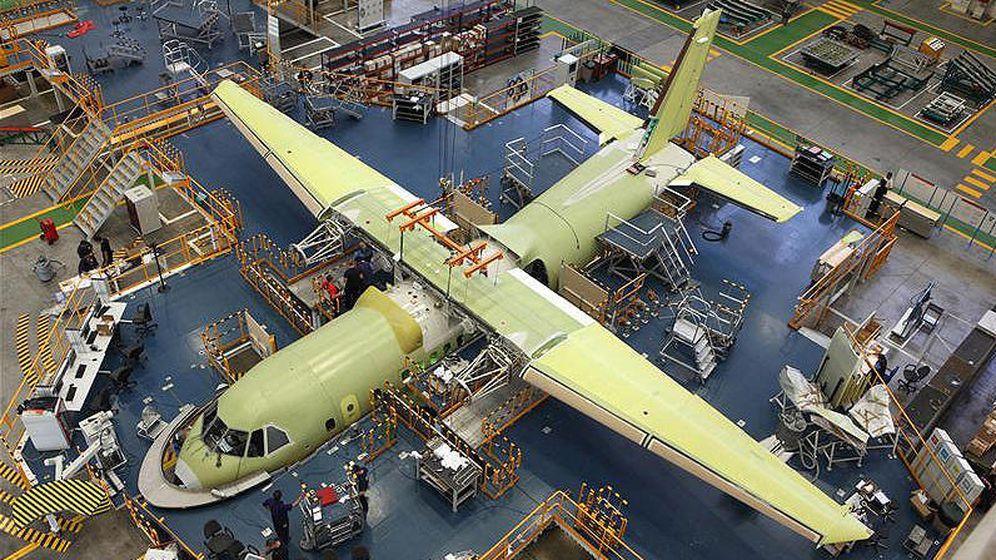 Foto: Final de la cadena de montaje de la fábrica de Airbus en Sevilla. (Foto: Airbus)