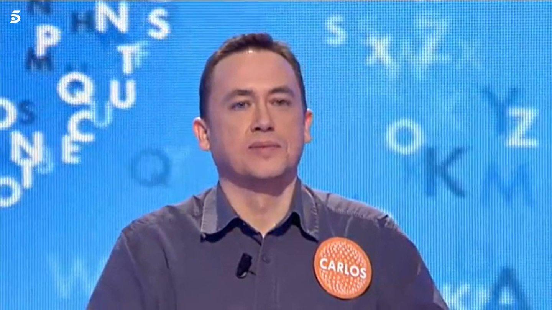 Carlos Adán, concursante de 'Pasapalabra' en Telecinco. (Mediaset)