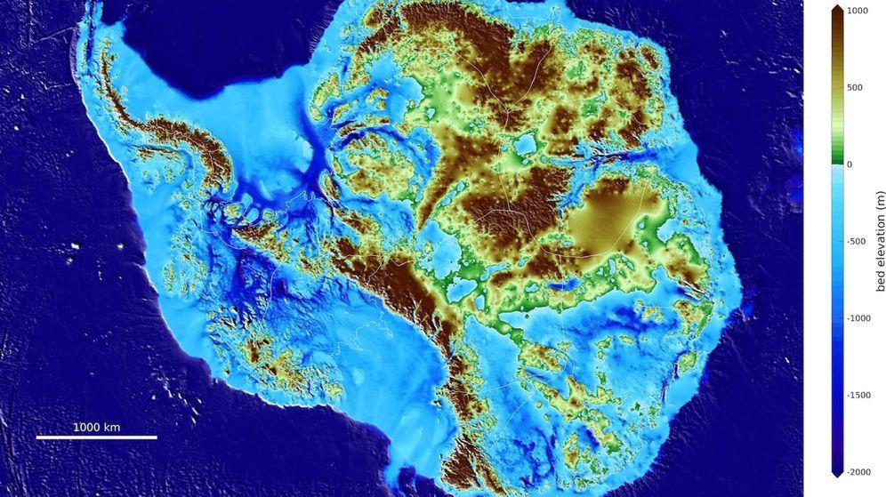 Foto: El mapeo de la Antártida que confirma el lugar más profundo del planeta. (EFE)1