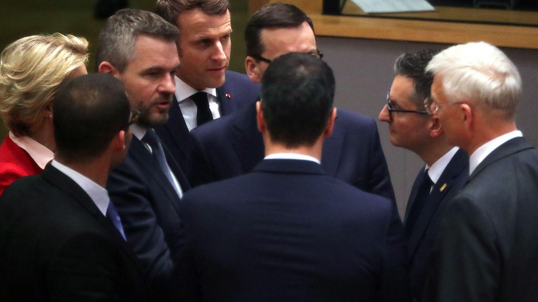 Un corro de líderes durante el último Consejo Europeo presencial. (EFE)