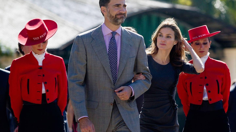 Los reyes Felipe y Letizia, en Jerez. (Getty)