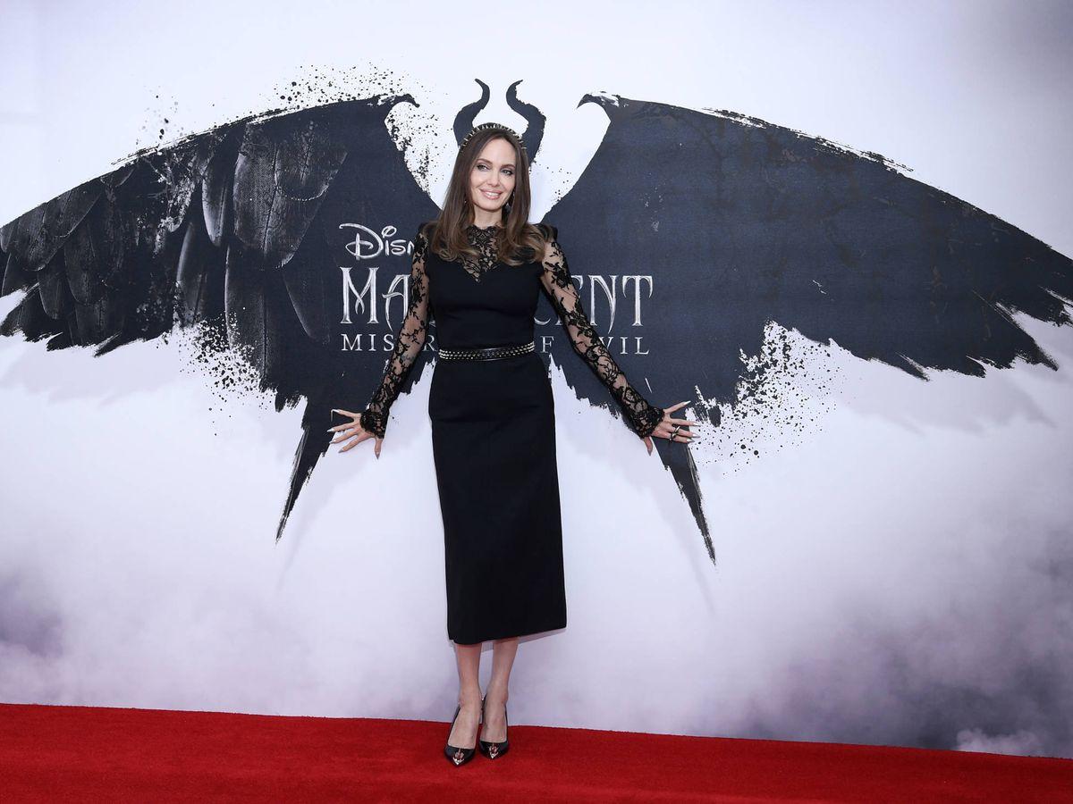 Foto:  Angelina Jolie, en el estreno de 'Maléfica'. (Getty)