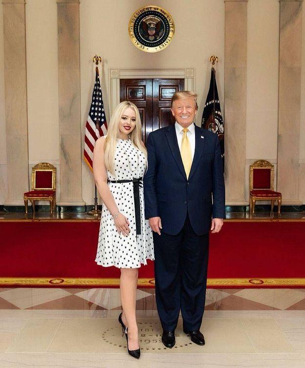 Foto: Donald y Tiffany Trump, en la Casa Blanca. (Redes)