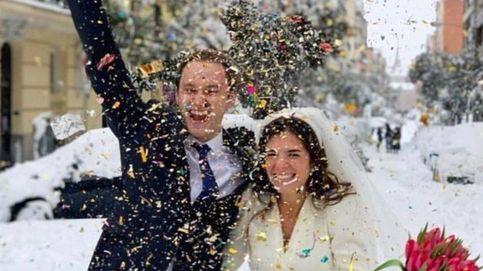 Con vestido de Zara y botas Hunter: la novia que se casó en medio del temporal Filomena