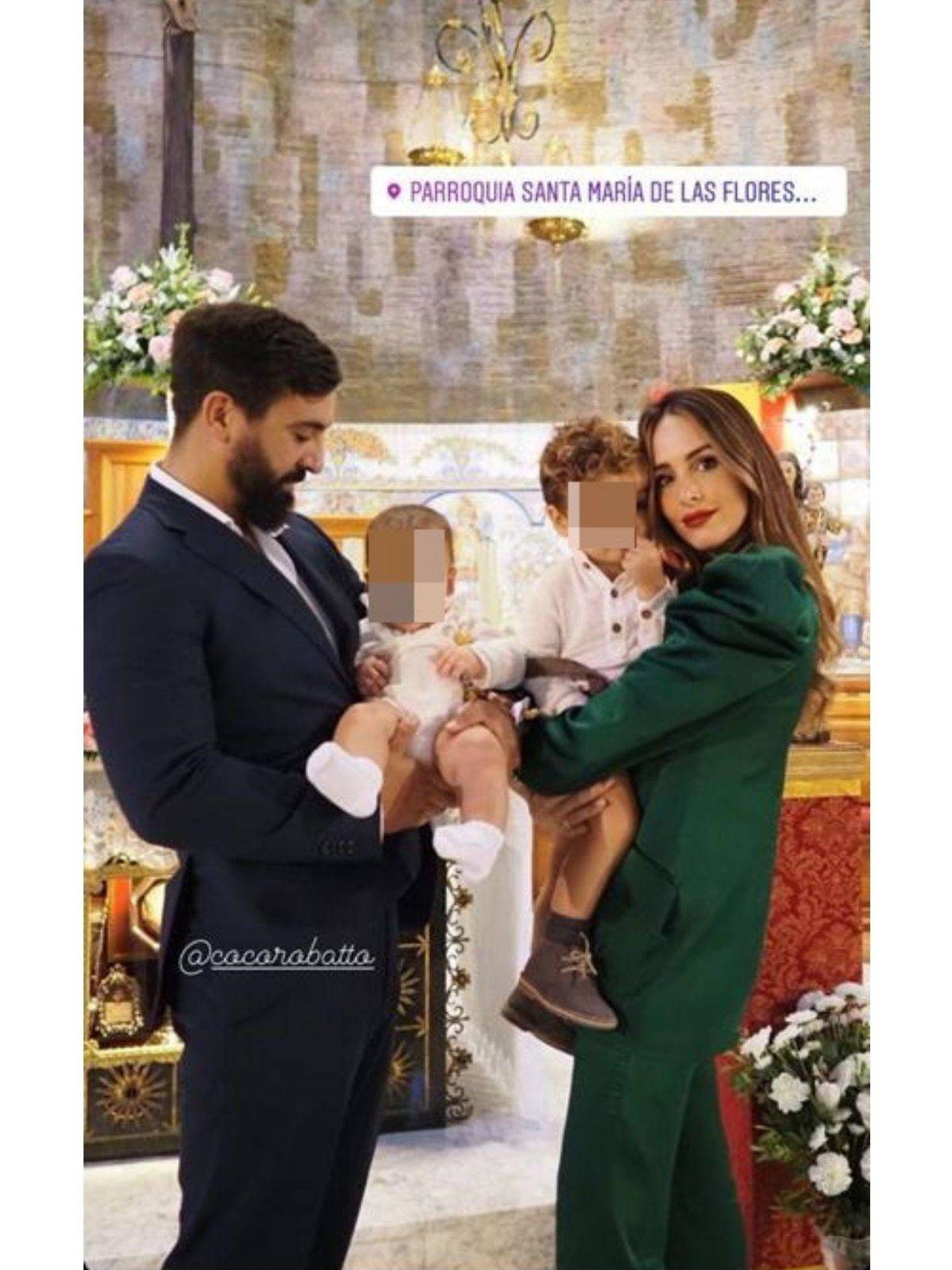 Rocío Osorno y su familia, en una foto compartida en redes.