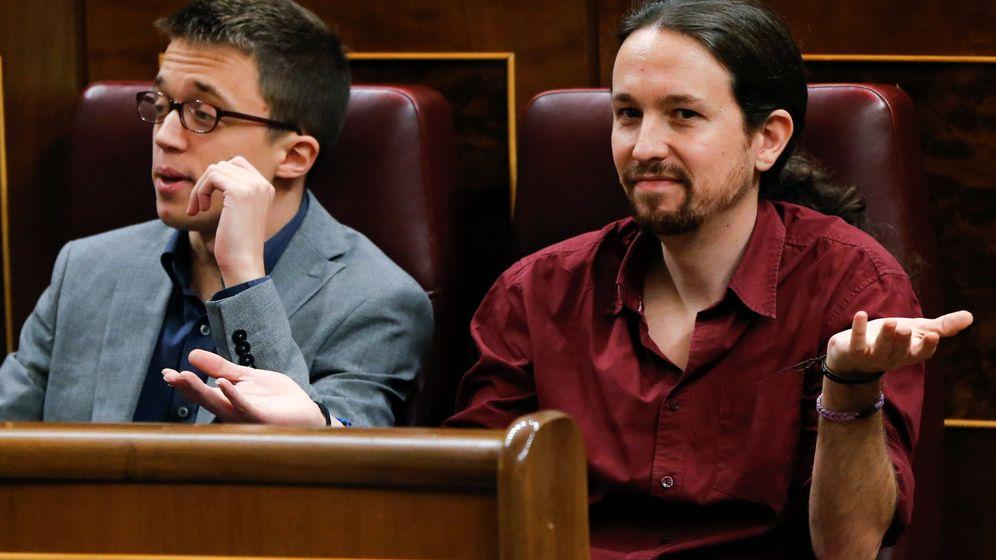 Foto: Pablo Iglesias e Íñigo Errejón el pasado 4 de marzo en el Congreso de los Diputados. (EFE)