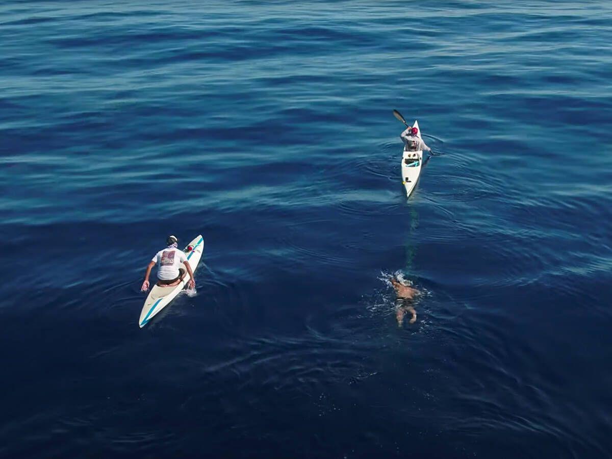 Foto: Pablo Fernández nadando en Florida.