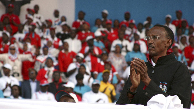 Paul Kagame durante el lanzamiento de su campaña de reelección en 2010, en Kigali. (Reuters)