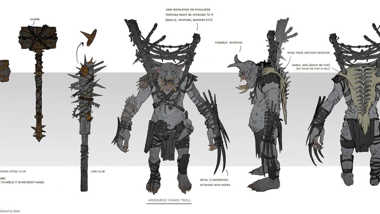 unos 'trolls' algunos de los diseños de Sandra Duchiewicz para 'Total War: Warhammer' (Fuente: Sandra Duchiewicz)