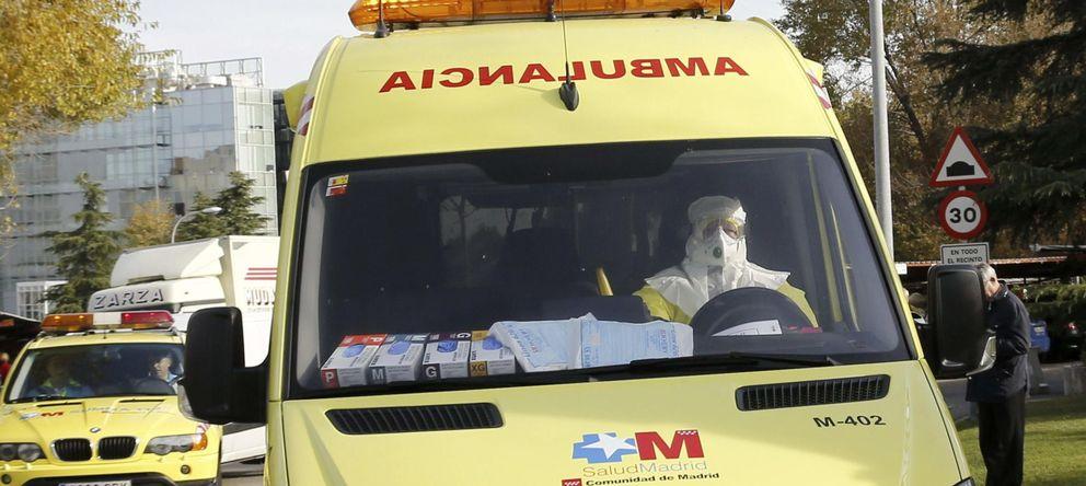 Foto: Llegada de la cooperante española al hospital Carlos III de Madrid. (Efe)