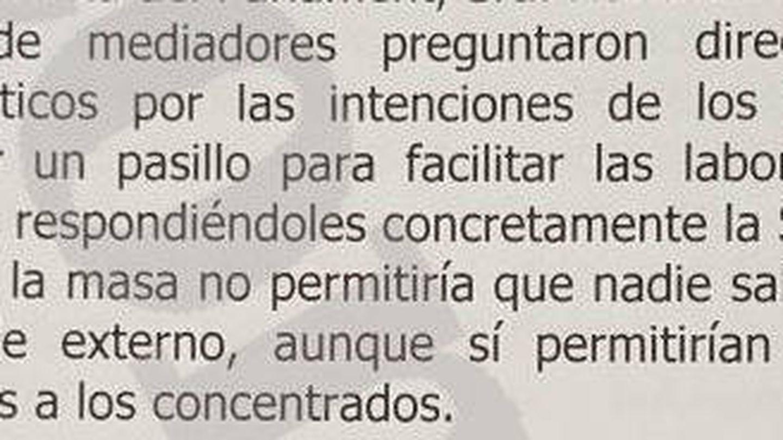 Extracto del informe de la AME.