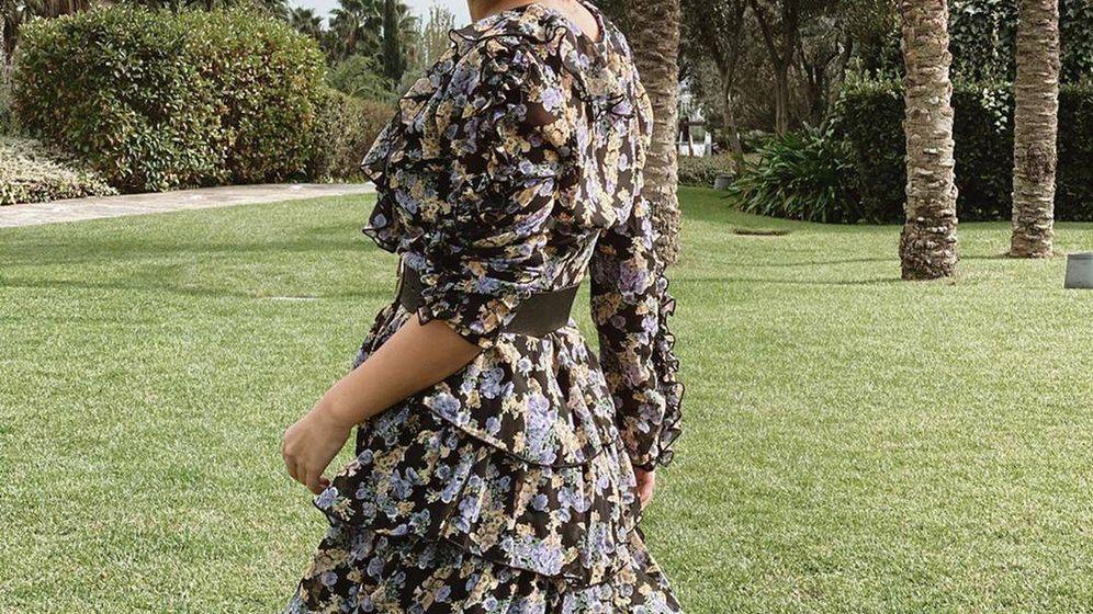 Foto: Laura Escanes, con el vestido de Shein que causó sensación. (@lauraescanes)
