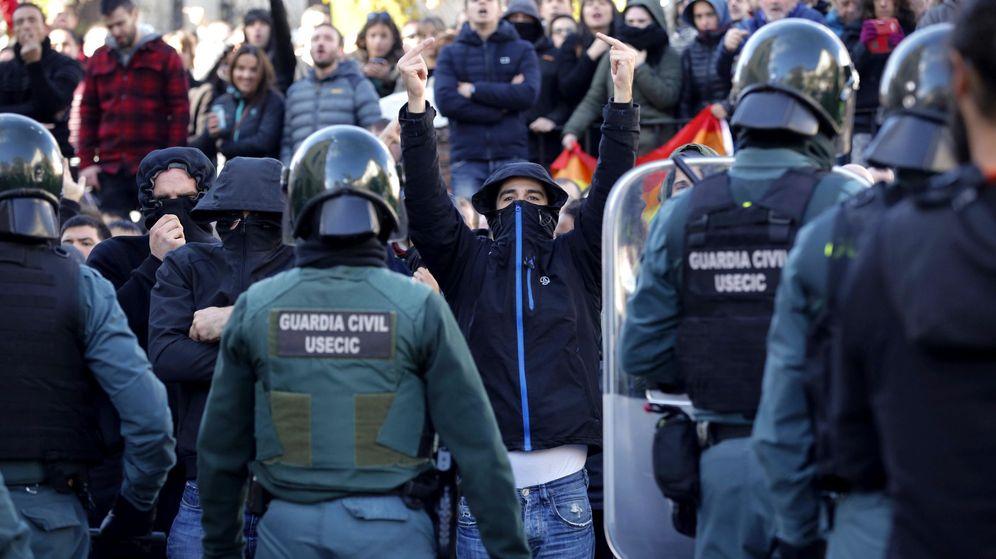 Foto: Acto de España Ciudadana en Alsasua en apoyo a la Guardia Civil en 2018. (EFE)