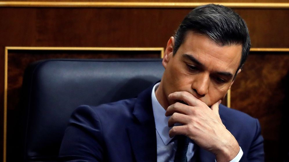 Foto: Pedro Sánchez, durante el debate de investidura. (EFE)