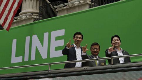 Line planta cara a Whatsapp y se revaloriza un 35% en su debut en Wall Street
