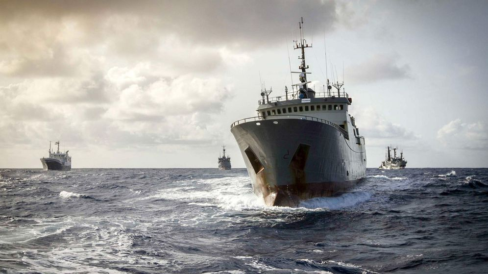 Foto: Un barco pescando merluza. (EFE)