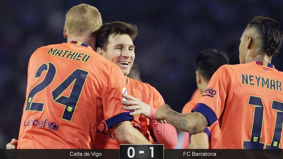 Mathieu salva al Barcelona el día en que se apagaron todas sus estrellas
