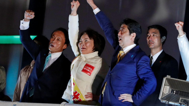 Shinzo Abe, durante un mitin electoral en Tokio, el 21 de octubre de 2017. (Reuters)