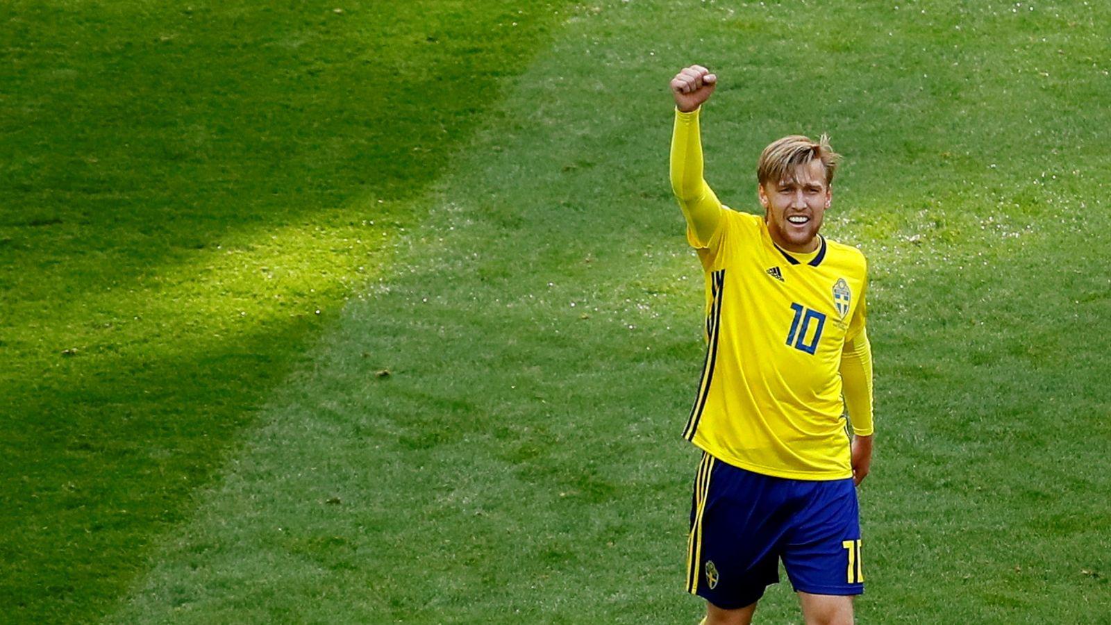 Foto: Emil Forsberg marcó el gol de la victoria de Suecia ante Suiza. (Reuters)