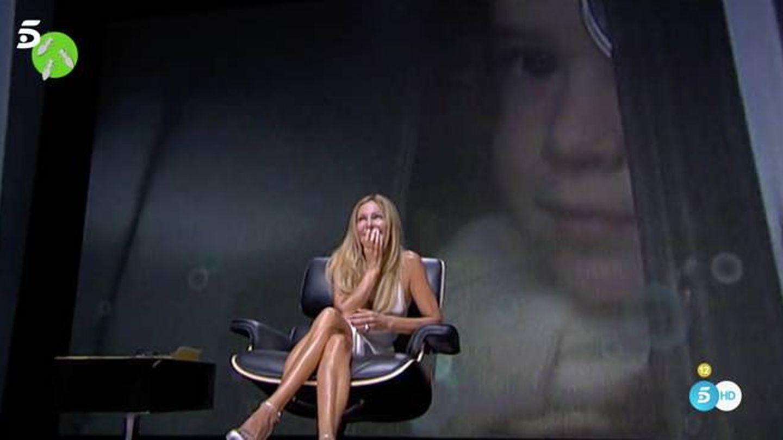 Ana Obregón, durante la entrevista de 2011. (Mediaset)