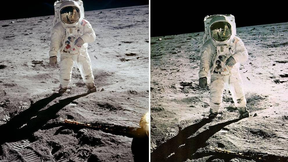 La icónica foto de la llegada a la Luna que la NASA admite que ha sido retocada