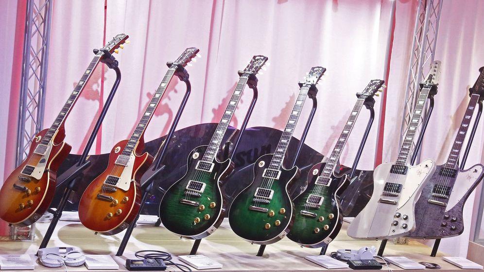 Foto: Tienda de guitarras eléctricas. (EFE)