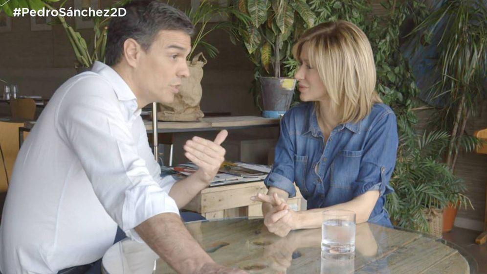 Foto: Pedro Sánchez y Susanna Griso. (Atresmedia Televisión)