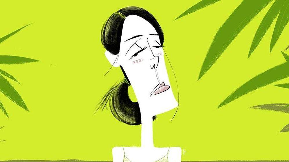 Foto:  Sofía Palazuelo, en una ilustración de Jate.