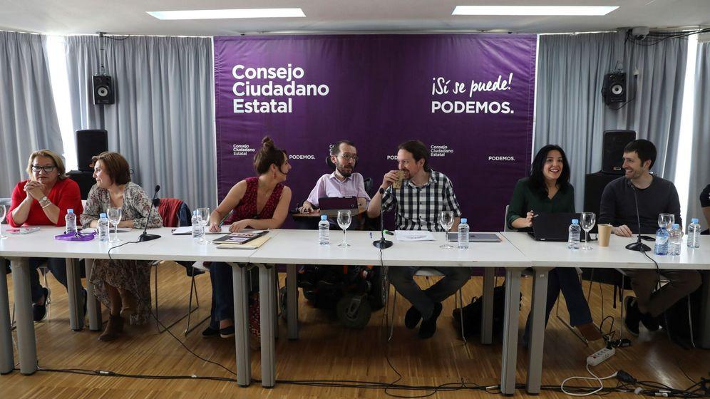 Foto: Pablo Iglesias, en el Consejo Ciudadano Estatal. (EFE)