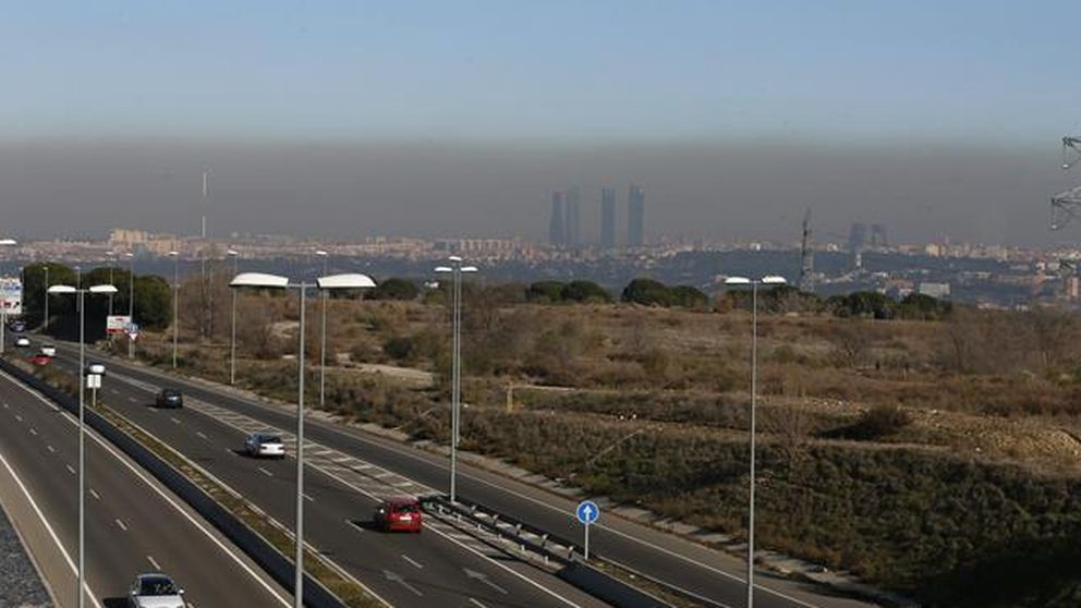Así es la nube negra de contaminación que asfixia a Madrid