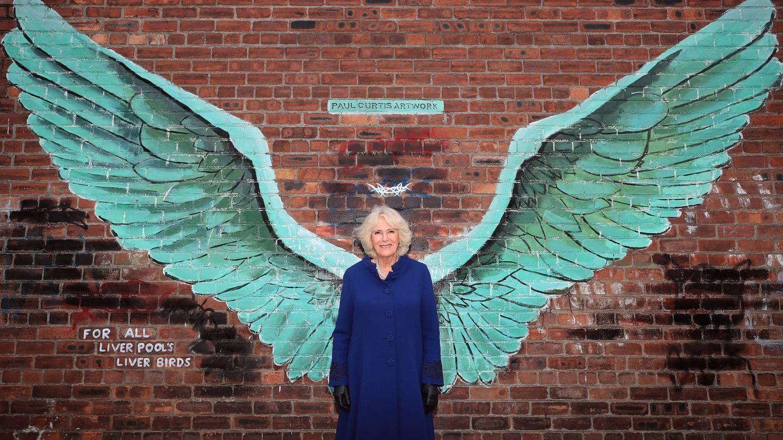Camilla Parker, en una visita a Liverpool. (Getty)