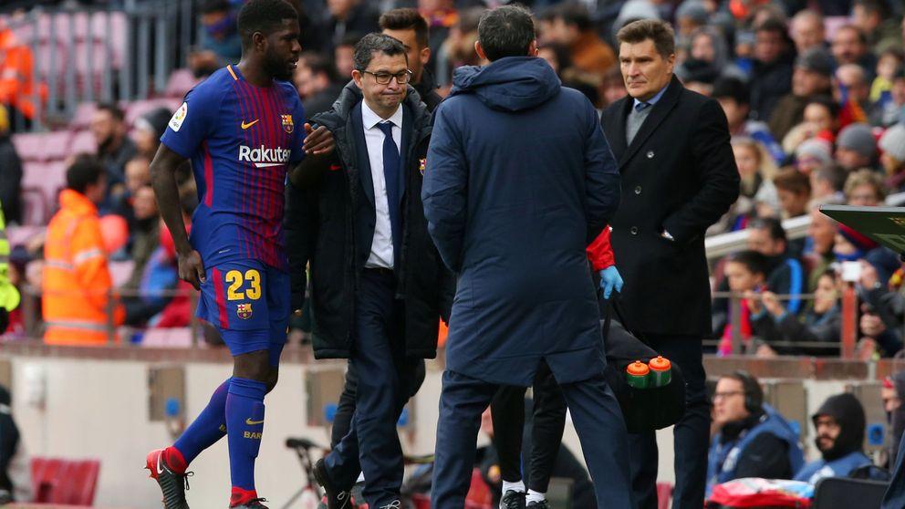 Umtiti, dos meses de baja y adiós al Clásico del Santiago Bernabéu
