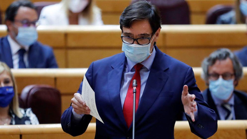 Foto: El ministro de Sanidad, Salvador Illa, en el Senado. (EFE)