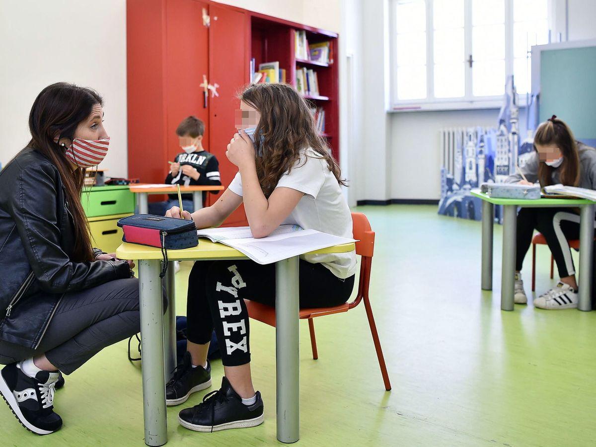 Foto: Niños en un colegio de Italia. (Reuters)